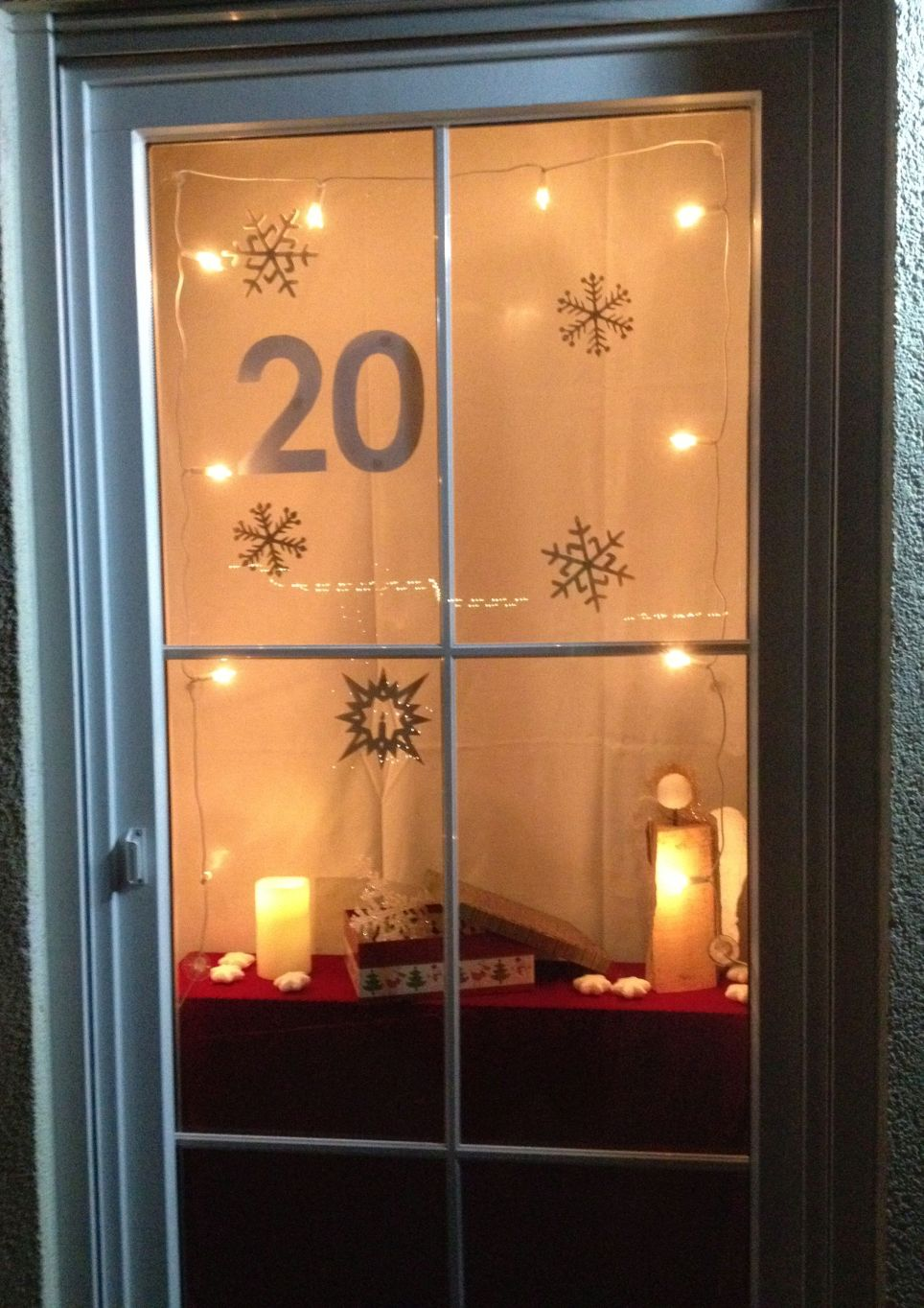 Adventskalender Fenster
